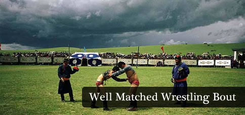 Well Matched Wrestling Bout