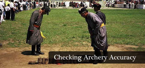Checking Archery Accuracy